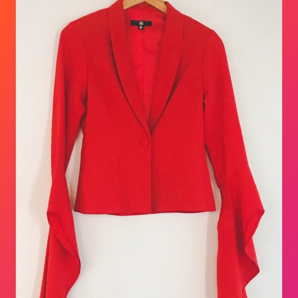 Missguided Jackets & Blazers - Missguided ♥️ Red Blazer with Amazing Sleeves